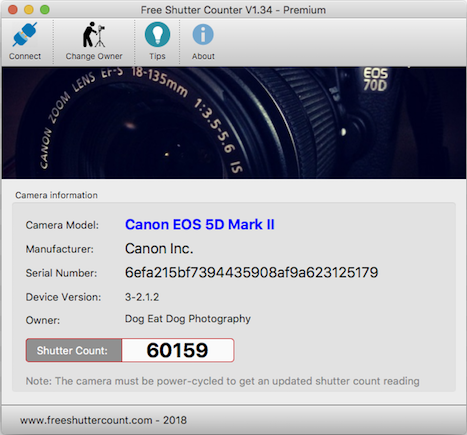 canon camera shutter count software free download